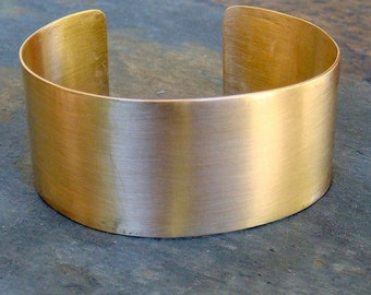 Gold Cuff Bracelet - Satin Finish