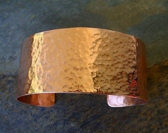 Copper Cuff Hammered Finish