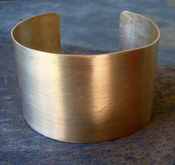 Wide Gold Cuff Bracelet
