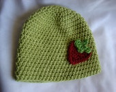 Strawberry Beanie Infant 0 to 6 months