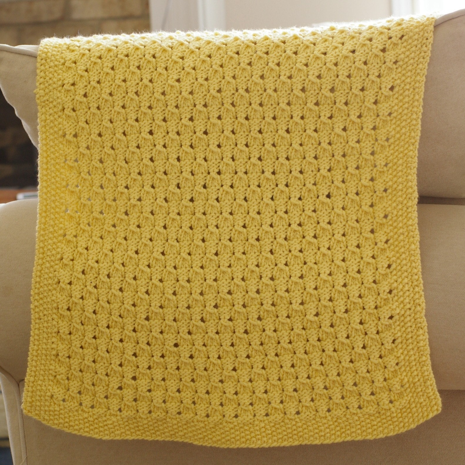 Knitting Pattern For Baby Blanket With Name : Dewdrop Baby Blanket Knitting Pattern