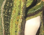 Reserved -  Verdant Green Wrap - Luxe Knits Art to Wear - Ships Immediately via Priority Mail