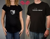 Mom and Dad To Be GIFT SET - Bun in the Oven and The Bun Maker Tshirts, All Sizes Available