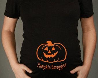 Maternity Shirt, PUMPKIN SMUGGLER  Short Sleeve Black