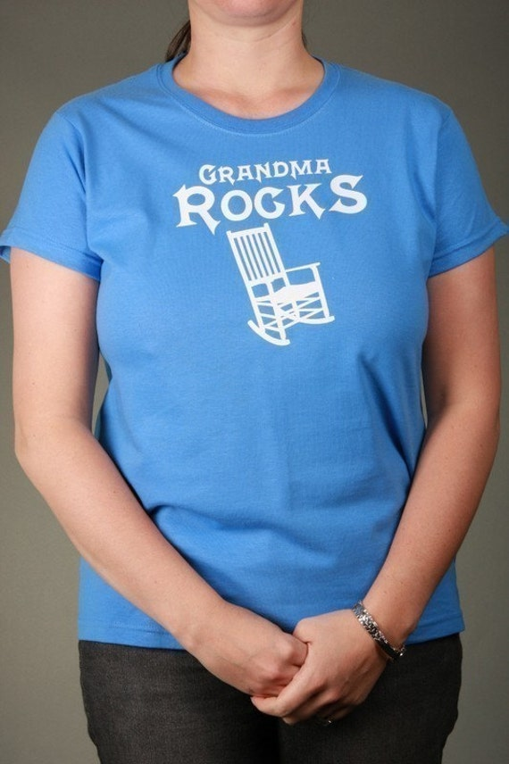 GRANDMA ROCKS - Short Sleeve Ladies Cotton T-shirt, Sizes S-2XL available