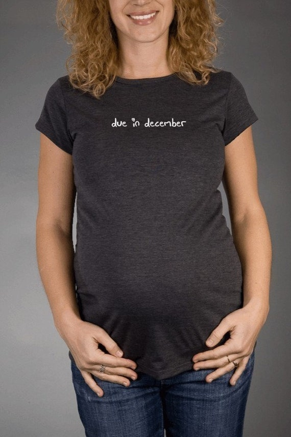 Custom Due In Heart - Charcoal Short Sleeve Maternity T-shirt