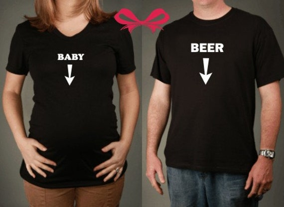 Maternity and Dad To Be GIFT SET -Baby Belly and Beer Belly Tshirts, All Sizes Available