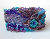 Tide Pools Freeform Beadwoven Bracelet