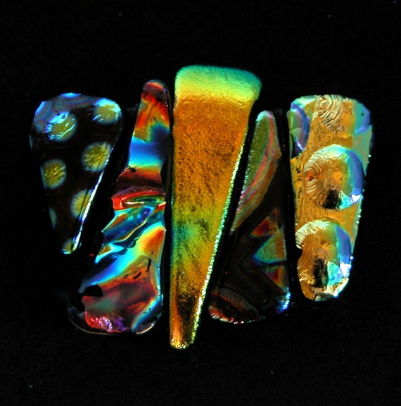 Unbalanced Dichroic Glass Cabochon