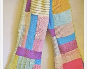 RESERVED for Rose ---- FUNKIEST chenille patchwork flares size 5 - 6