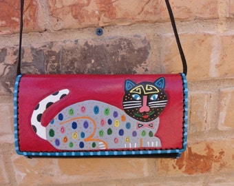 Mola Cat leather Purse