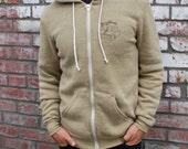 POLAROID camera Size Large - Mustard brown heather HOODIE sweatshirt
