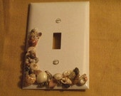 WHITE- Seashell- Single Switch Plate (Midway Sized).