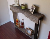 Skinny Console Table. Small Entry Table. Rustic Furniture. Reclaimed Wood Furniture. Apartment Furniture 30x6x30