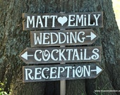 Large Wedding Sign & Stake Large Wooden Signs. Reception Signs. Parking Signs. Restrooms Sign. Cocktails sign Outdoor Wedding Decorations