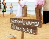 Beach Wedding Signs, Starfish Sign, Wedding Sign, Beach Front Wedding,  Drift wood Signs, Personalized Wedding Sign, Custom Wood Sign