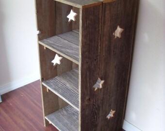 Large Wood Bookcase. Star Wood Shelf Country Wood Shelf Large Storage Shelf:) Primitive Furniture. Country Home Decor. Farm House Bookcase