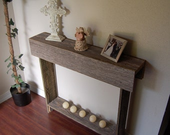 Small Narrow Console Table skinny console table. small entry table. rustic furniture.
