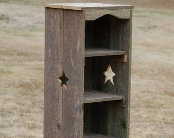 Tall Bookcase Skinny Bookcase. Kitchen Shelf. Thin Bookcase. Recycled Wood Shelf. Storage Shelf. Wood Furniture. Star Bookcase. Farmhouse