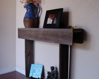 Farmhouse Console Table Small Table Recycled Wood Furniture Wall Table 30x7x30 small apartment or Entry Way Table Space Skinny Table