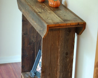 Console Table WITH CLEAR COAT, Entry Table, Wall Table, Sofa Table, Rustic Furniture, Recycled Wood Furniture, Eco Furniture 36 x 11 x 36