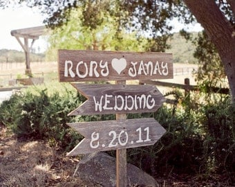 Wood Directional Wedding Signs Outdoor Wedding Decorations Hand Painted Signs. Your Words Party Signs Reception Signs Country Weddings