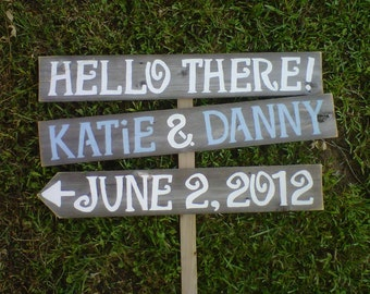 Wedding Signs Names and Date Sign Reclaimed Wood Reception Decorations. Eco Wedding. Outdoor Wedding Decorations. Rustic Wedding Blue