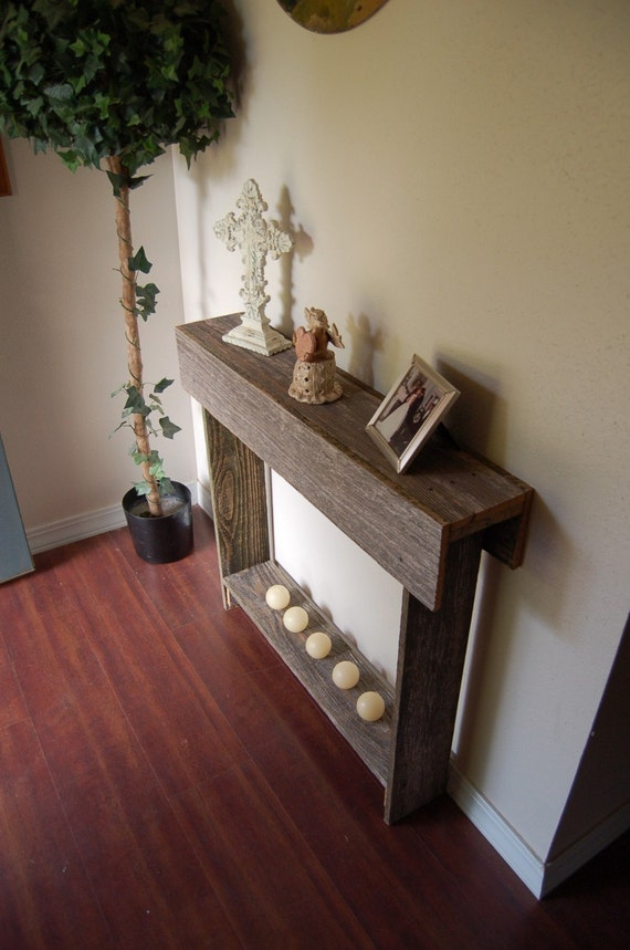thin console table entry way table reclaimed by trueconnection