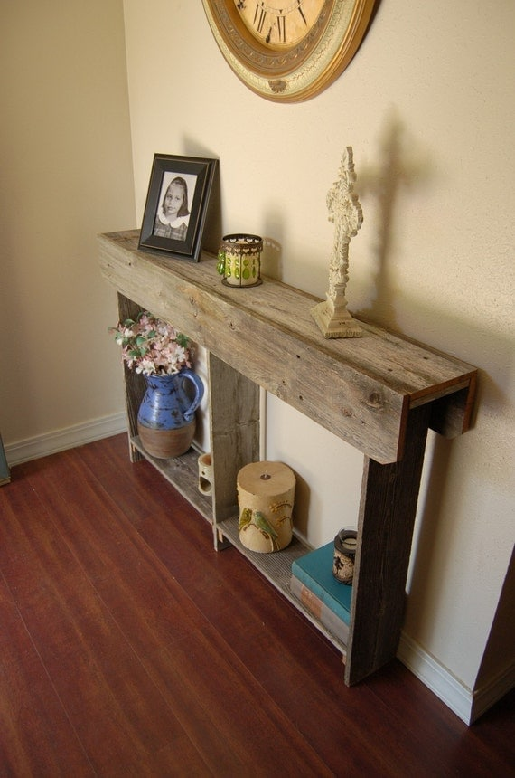 Thin Console Table 4 Foot Long Wall Runner Farm House