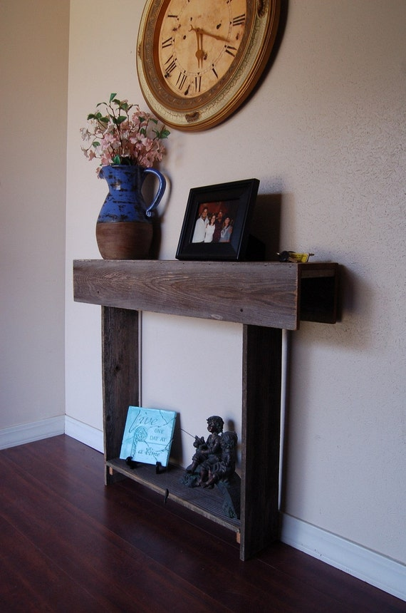 Skinny Console Table Reclaimed Cedar Wall Table by ...