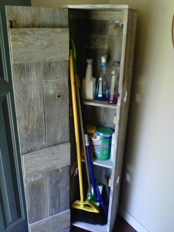 Tall Broom Closet Storage Pantry Laundry Room Cabinet