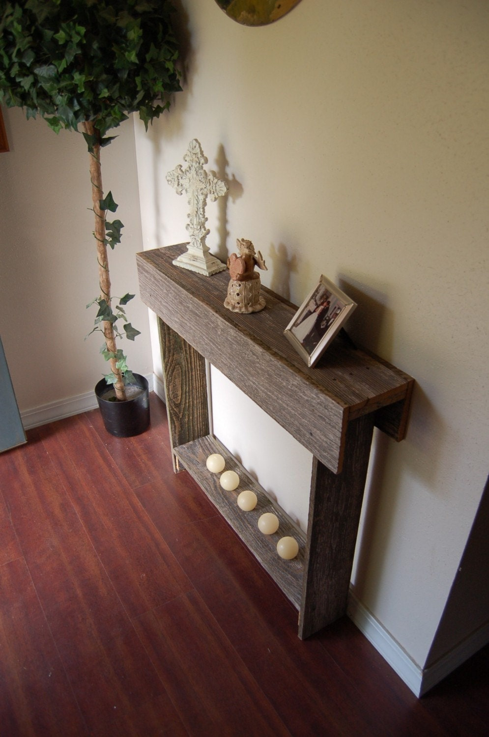 Thin console table wedding gift entry way table small for Petite table decorative