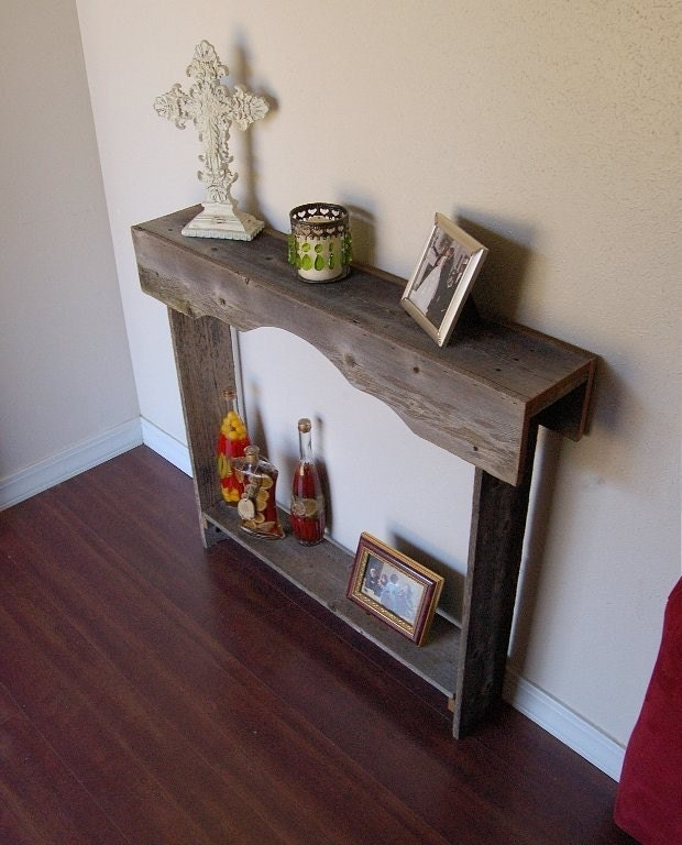 Skinny console table small entry table rustic furniture Small entryway table