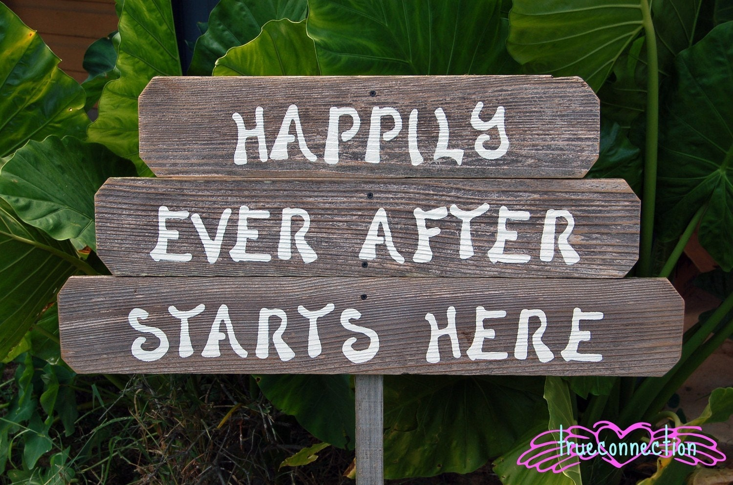 Happily Ever After Starts Here Wood Wedding Signs Rustic