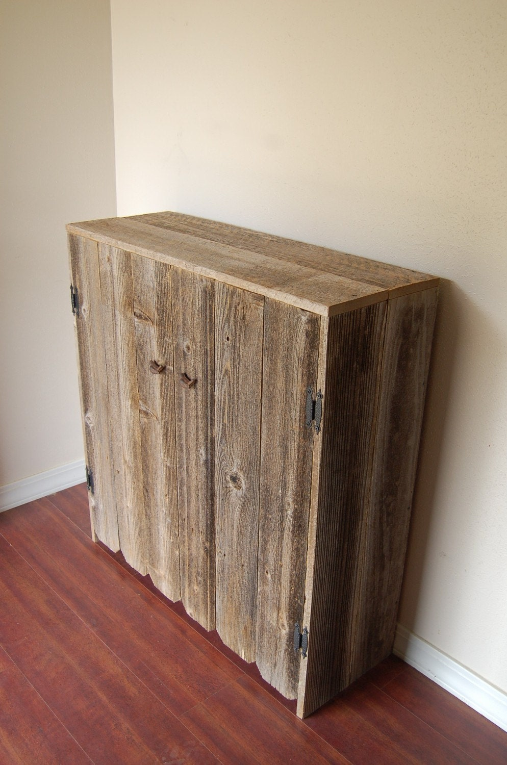 Reclaimed Wood Cabinets ~ Reclaimed wood cabinet large wooden pantry