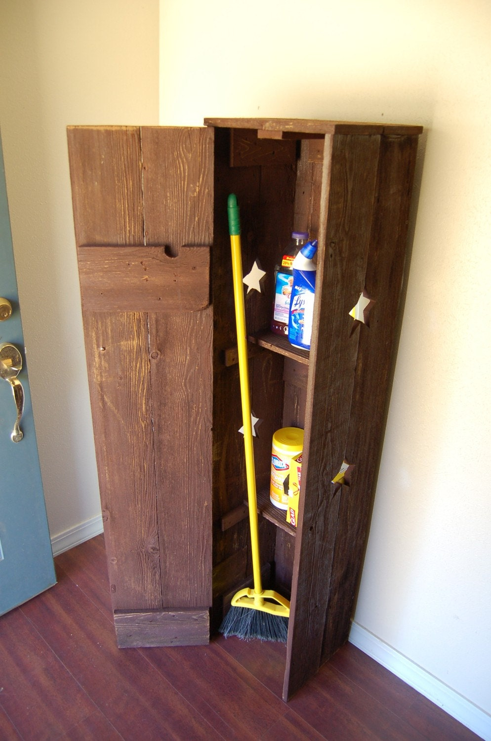 Cabinet broom closet pantry laundry room cabinet kitchen for Kitchen closet