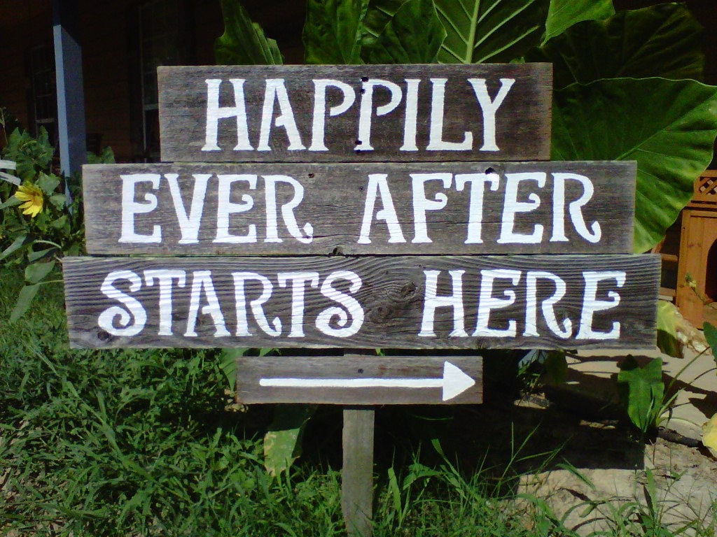 Happily Ever After Sign Welcome To Our Wedding Sign Happily