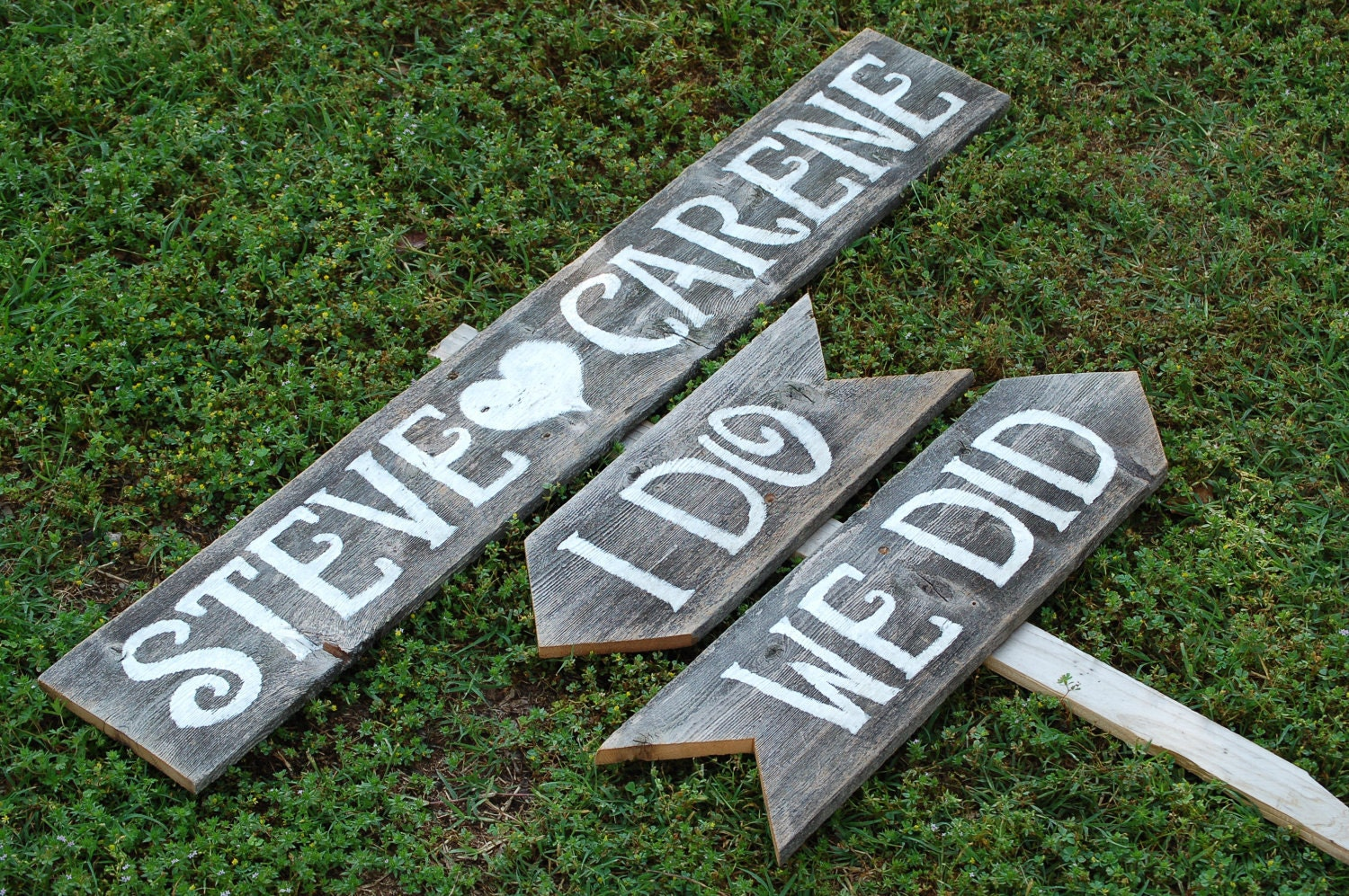 Wedding Signs Romantic Outdoor Weddings I Do We Did Arrow Sign