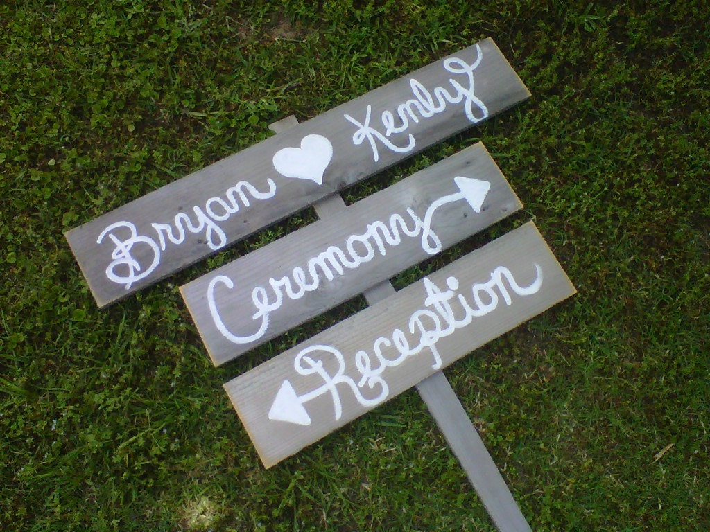 Wedding Sign Script Font Outdoor Decorations By TRUECONNECTION