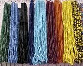 Vintage Mandrel Wound Glass Beads- 4 Strands