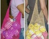 Crochet Mesh Bags - PDF pattern