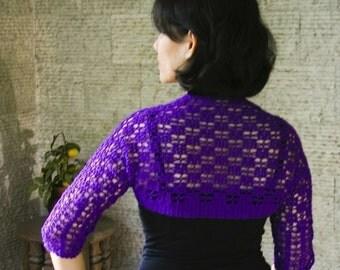Shells and Flowers Shrug - pdf crochet pattern
