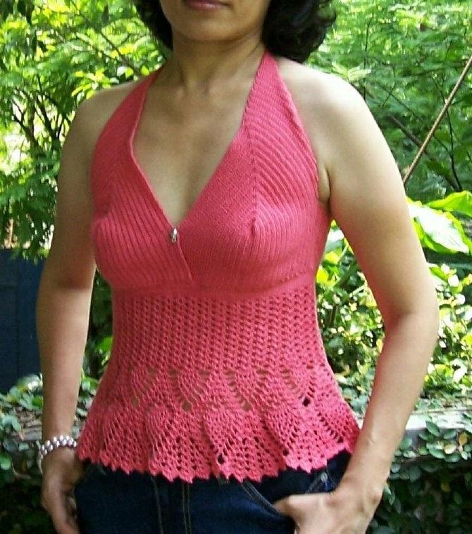 Shell Halter Top pdf crochet pattern