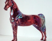 "Edition of 5 OOAK Raku Porcelain Model Horse Statue ""Leopard"" Reduced Price 2nd"