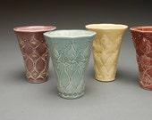 Tumbler / small vase Art Nouveau in Cornflower blue
