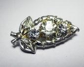 Leaf Garland Rhinestone Aluminum Brooch