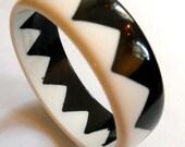 Black and White ZigZag Bracelet