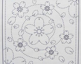 Olympus #36 Japanese sashiko sampler kit cotton Spiraling Sakura WHITE