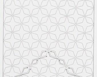 Olympus #202 Japanese sashiko kit Kaku Shippo INDIGO cotton