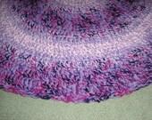 3ft Hand Crocheted Rag Look Rug